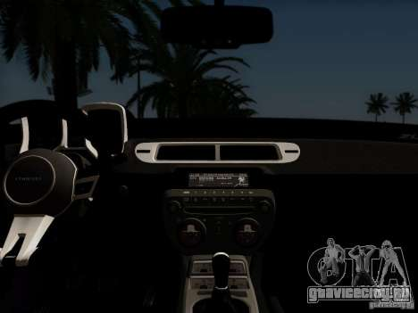 Chevrolet Camaro ZL1 2012 для GTA San Andreas вид сзади