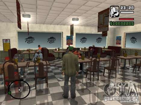 Новые текстуры забегаловок для GTA San Andreas шестой скриншот