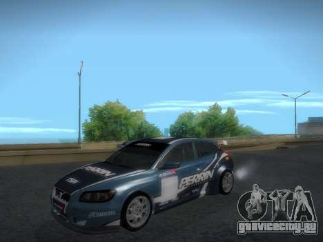 Volvo C30 Race для GTA San Andreas вид изнутри