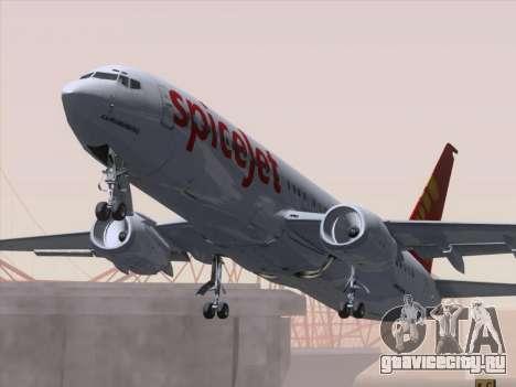 Boeing 737-8F2 Spicejet для GTA San Andreas салон