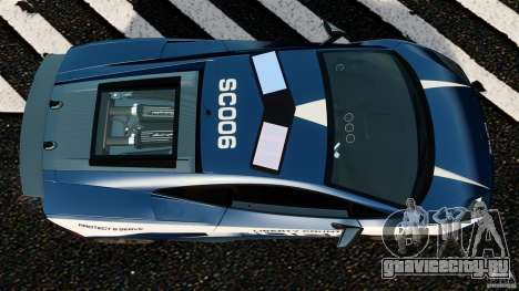 Lamborghini Gallardo LP570-4 Superleggera Police для GTA 4 вид справа