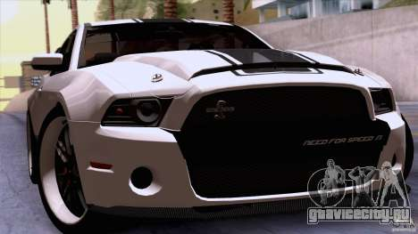 Ford Shelby GT500 Super Snake для GTA San Andreas вид сзади