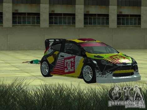 Ford Fiesta H.F.H.V. Ken Block Gymkhana 5 для GTA San Andreas вид сзади слева