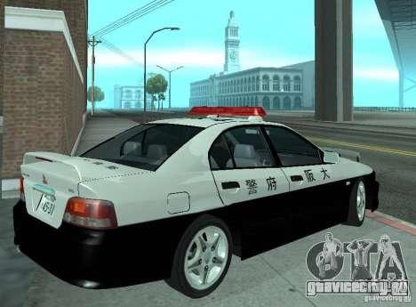 Mitsubishi Galant Police для GTA San Andreas вид справа