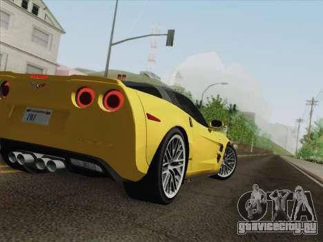 Chevrolet Corvette ZR1 для GTA San Andreas колёса