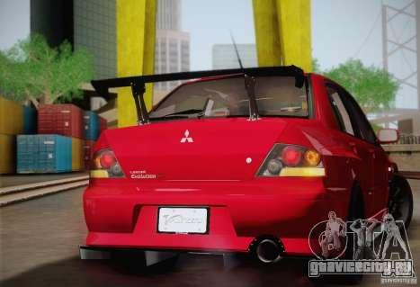Mitsubishi Lancer Evolution VIII MR Edition для GTA San Andreas вид сзади