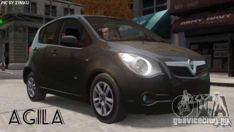 Vauxhall Agila 2011 для GTA 4