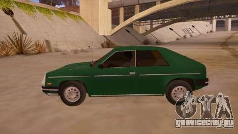 Chevrolet Chevette 1976 для GTA San Andreas вид слева