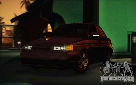 ВАЗ 2110 Сток для GTA San Andreas вид изнутри