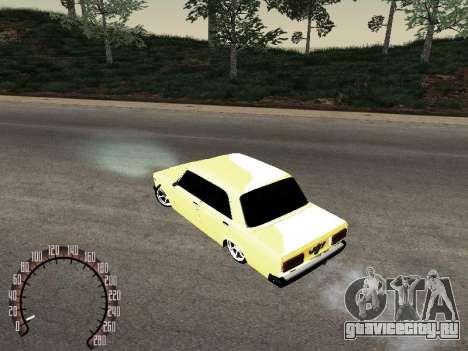 ВАЗ 2107 Gold для GTA San Andreas вид справа