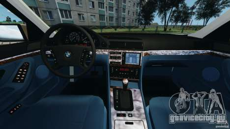 BMW 750iL E38 1998 для GTA 4 вид сзади