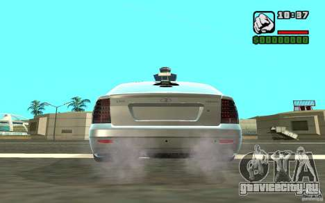 ВАЗ 2172 для GTA San Andreas вид сзади
