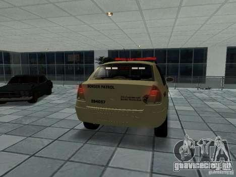 Renault Clio Symbol Police для GTA San Andreas вид сзади слева