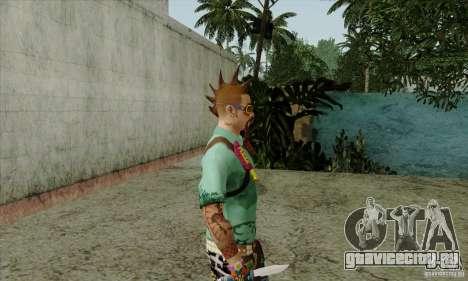 Скин на замену Fam1 для GTA San Andreas четвёртый скриншот