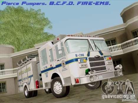 Pierce Pumpers. B.C.F.D. FIRE-EMS для GTA San Andreas