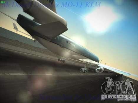 McDonnell Douglas MD-11 KLM Royal Dutch Airlines для GTA San Andreas вид сзади