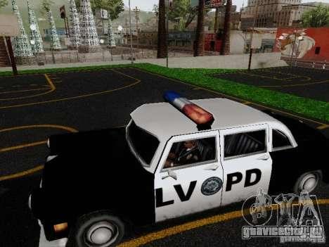 Cabbie Police LV для GTA San Andreas вид слева