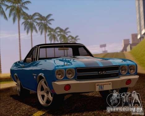 Chevrolet EL Camino SS 70 для GTA San Andreas вид изнутри