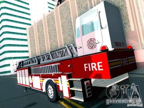 Прицеп для Seagrave Tiller Truck для GTA San Andreas вид справа