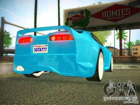 Toyota Supra VeilSide Fortune 2003 для GTA San Andreas вид сзади