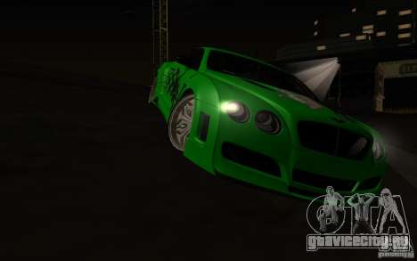 Bentley Continental GT для GTA San Andreas вид сбоку