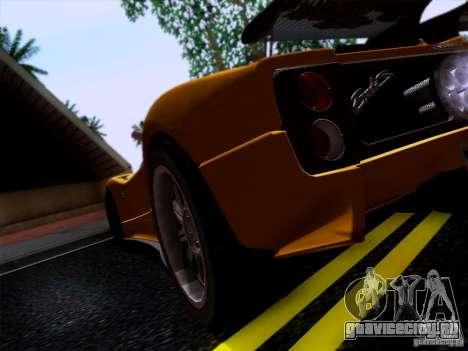 Pagani Zonda C12S Roadster для GTA San Andreas вид справа