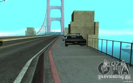Police на мосту Сан-Фиерро для GTA San Andreas второй скриншот