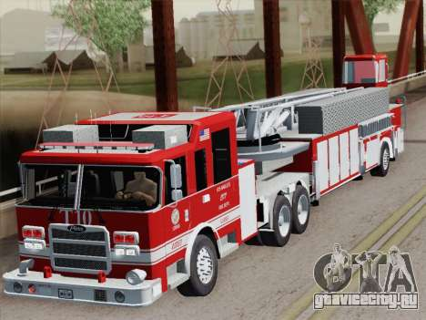 Pierce Arrow XT LAFD Tiller Ladder Truck 10 для GTA San Andreas вид сверху
