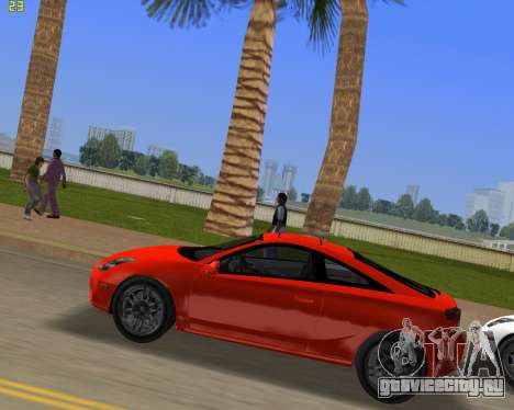 Toyota Celica 2JZ-GTE черный Revel для GTA Vice City вид слева
