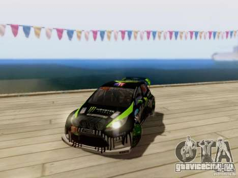 Ford Fiesta Gymkhana 3 для GTA San Andreas вид сзади