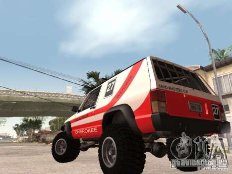 Jeep Cherokee 1984 для GTA San Andreas вид сзади