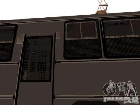 Mercedes Benz SWAT Bus для GTA San Andreas вид сбоку