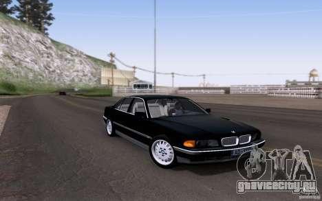 BMW 730i E38 для GTA San Andreas вид изнутри
