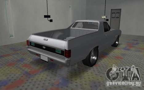 Chevrolet El Camino SS для GTA San Andreas вид сзади слева