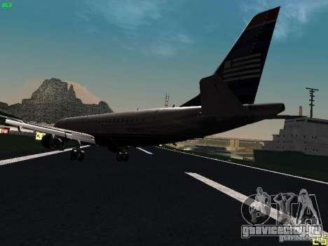 Embraer ERJ 190 USAirways для GTA San Andreas вид сзади слева