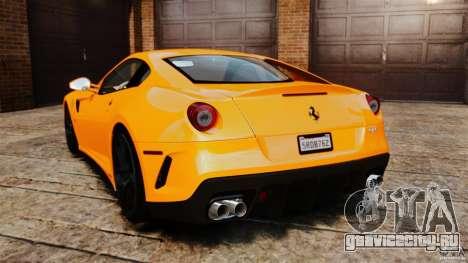 Ferrari 599 GTO 2011 для GTA 4 вид сзади слева