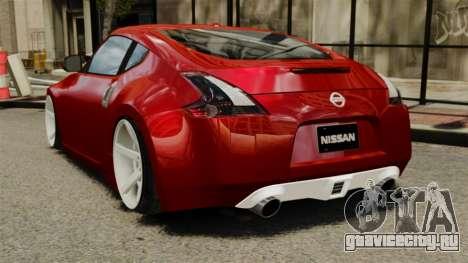 Nissan 370Z 2010 для GTA 4 вид сзади слева
