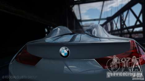 BMW Vision ConnectedDrive Concept 2011 для GTA 4 вид сзади слева