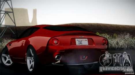 Aston Martin DB7 Zagato 2003 для GTA San Andreas вид изнутри