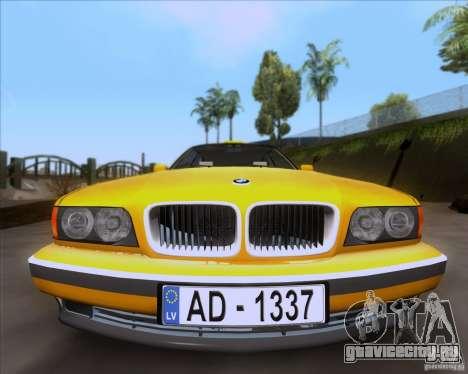 BMW 730i E38 1996 Taxi для GTA San Andreas вид справа