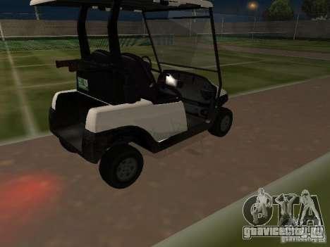 Caddy из GTA TBoGT для GTA San Andreas вид изнутри