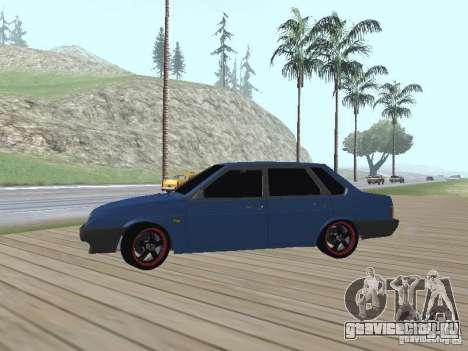 ВАЗ 21099 v2 для GTA San Andreas вид сзади