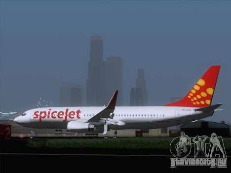 Boeing 737-8F2 Spicejet для GTA San Andreas вид справа