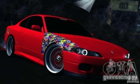 Nissan Silvia S15 для GTA San Andreas вид изнутри