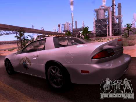 Chevrolet Camaro 2002 California Highway Patrol для GTA San Andreas вид слева