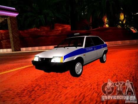 Ваз 2109 Police для GTA San Andreas вид слева