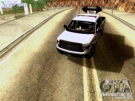 Ford F-150 Road Sheriff для GTA San Andreas вид сзади