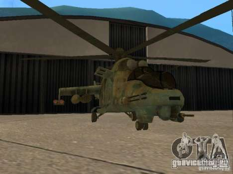 Ми - 24П для GTA San Andreas вид сзади