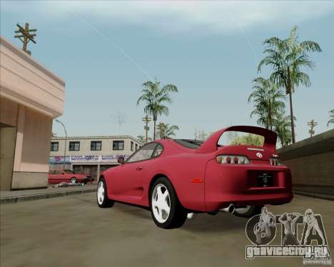 Toyota Supra RZ 98 Twin Turbo для GTA San Andreas вид сзади слева