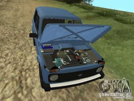 ВАЗ 21214 Нива для GTA San Andreas вид изнутри